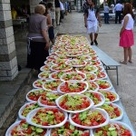 big table of greek salads_300